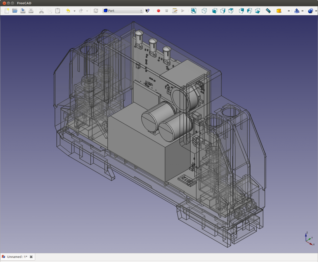 Freecad Rendering of Eagle BRD File